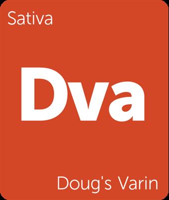 Leafly Doug's Varin sativa cannabis strain tile