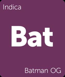 Leafly Batman OG indica cannabis strain
