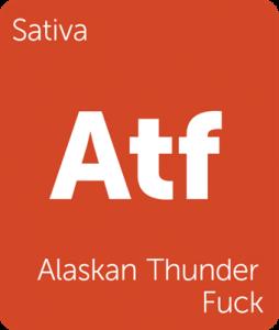 Leafly Alaskan Thunder Fuck sativa cannabis strain