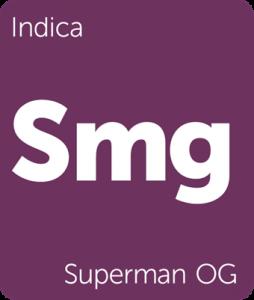Leafly Superman OG indica cannabis strain
