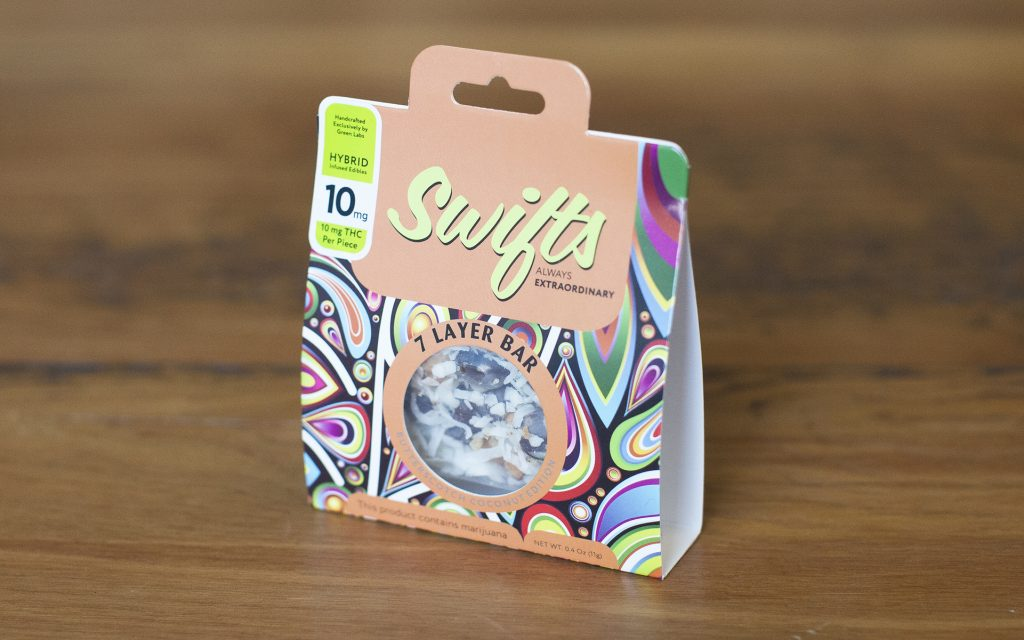 Cannabis Edible: Swifts 7 Layer Bar by Green Labs