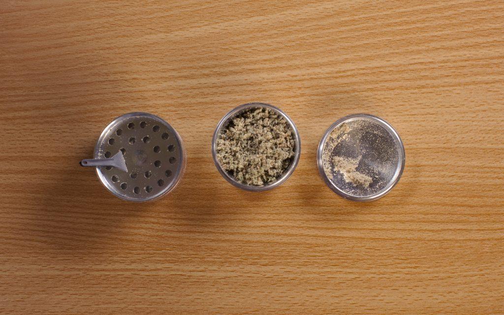 marijuana grinder with a kief catcher