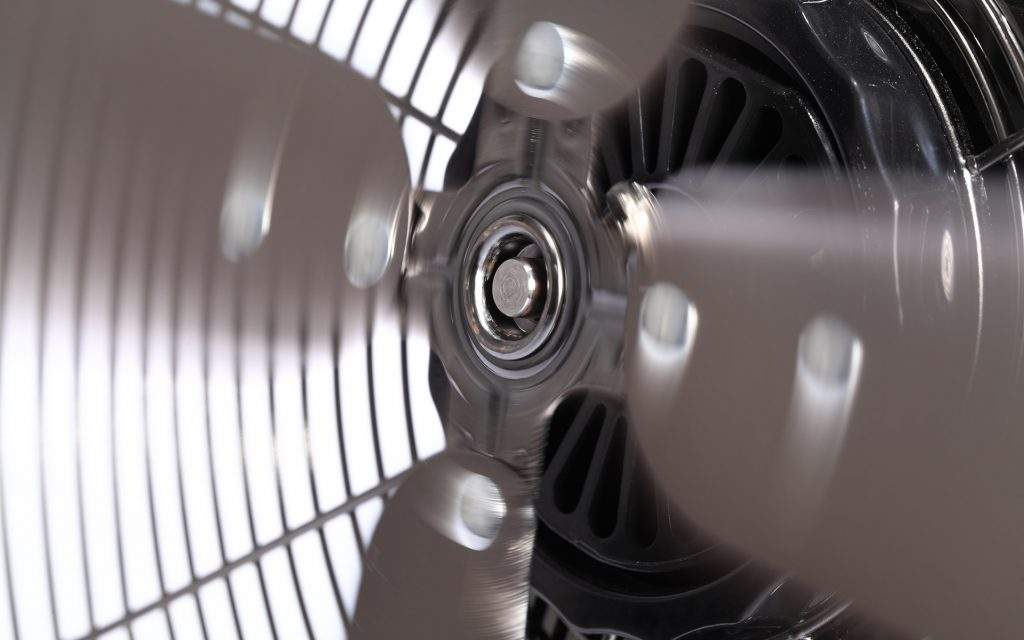 Spinning Electric Fan Blades
