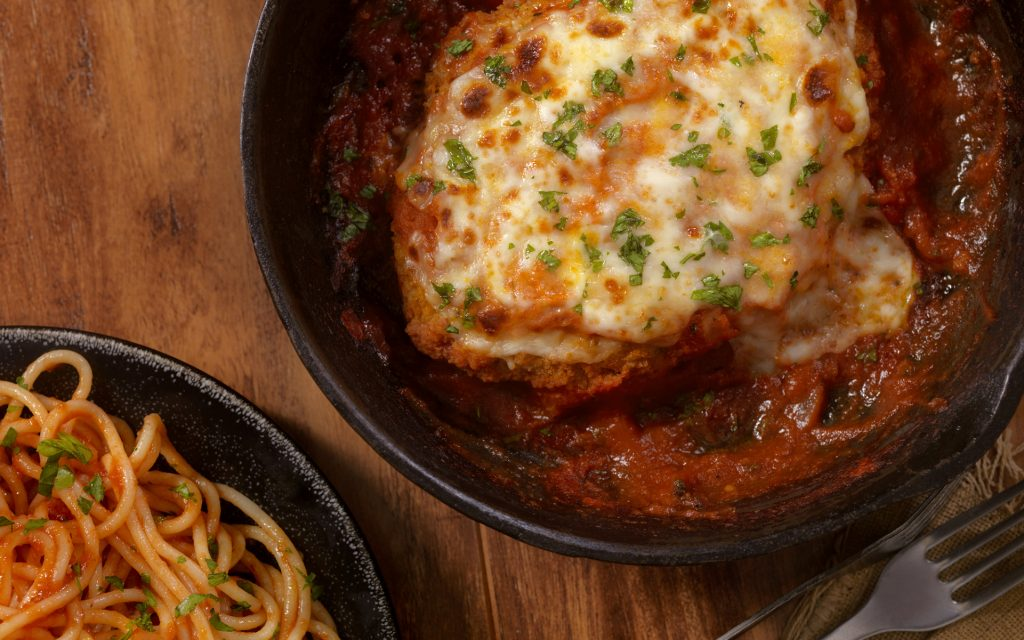 Cannabis-Infused Chicken Parmesan with Pasta Entree Recipe
