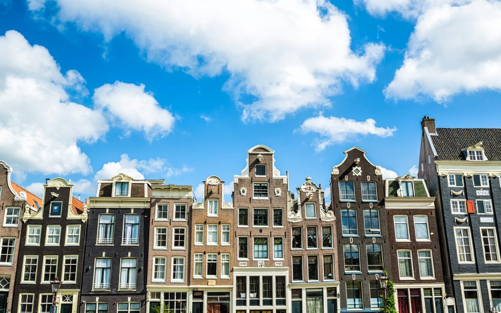 Typical dutch houses in the Center of Amsterdam
