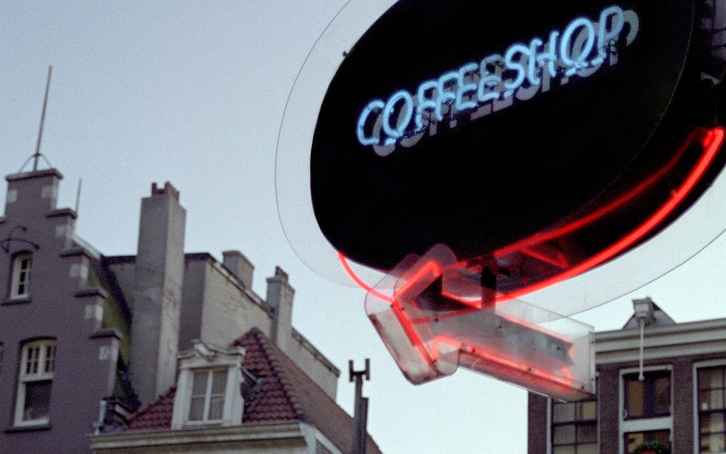 Coffeeshop sign in Amsterdam