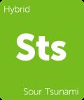 Sour Tsunami Leafly cannabis strain tile