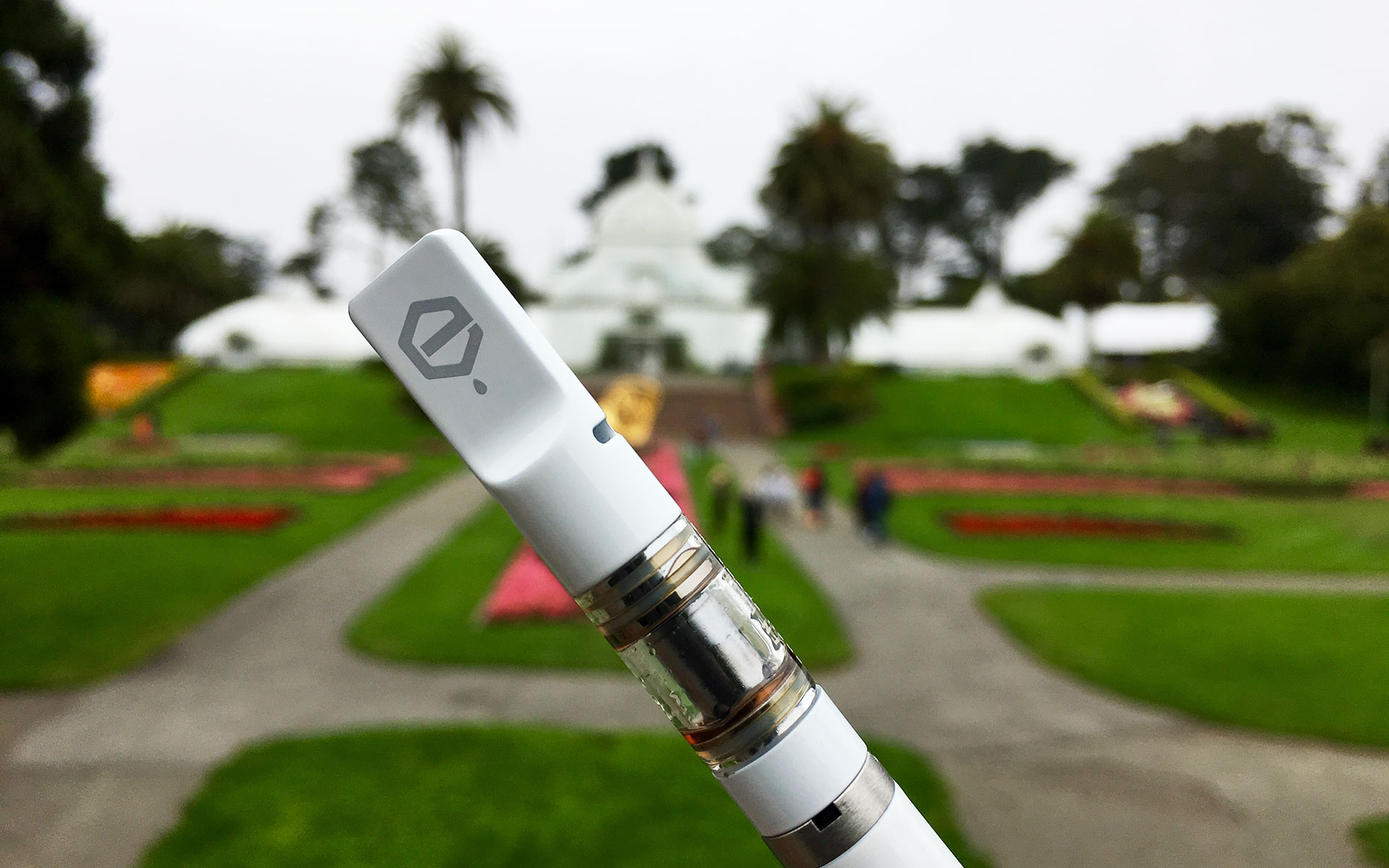 Forbidden Fruit: Vape carts and tourist attractions make a discrete pair. (Photo David Downs / Leafly)