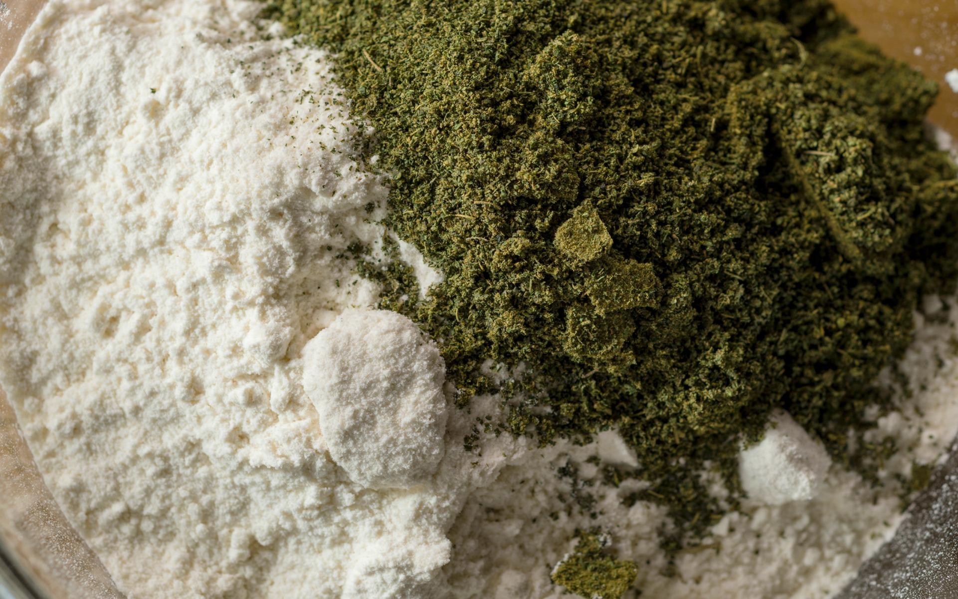 cannabis flour, canna flour, sift with flour