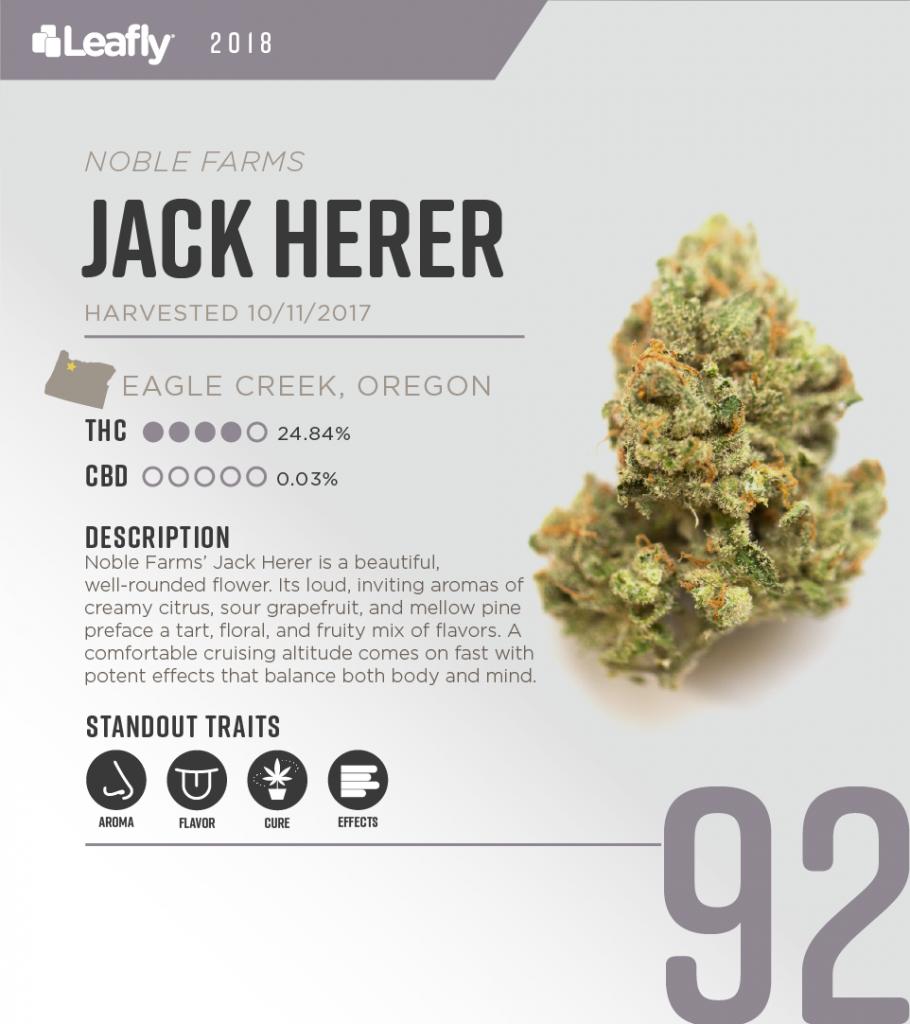 High-THC weed strains in Oregon: Jack Herer