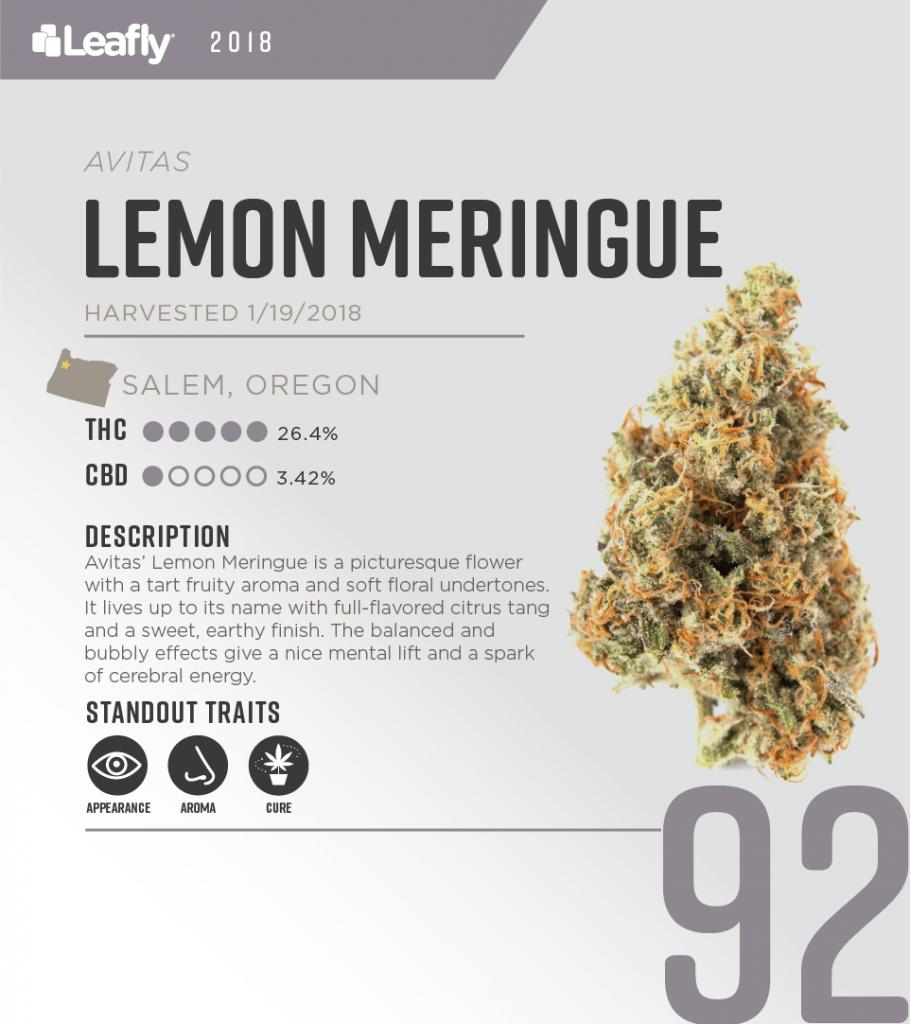 High-THC weed strains in Oregon: Lemon Meringue