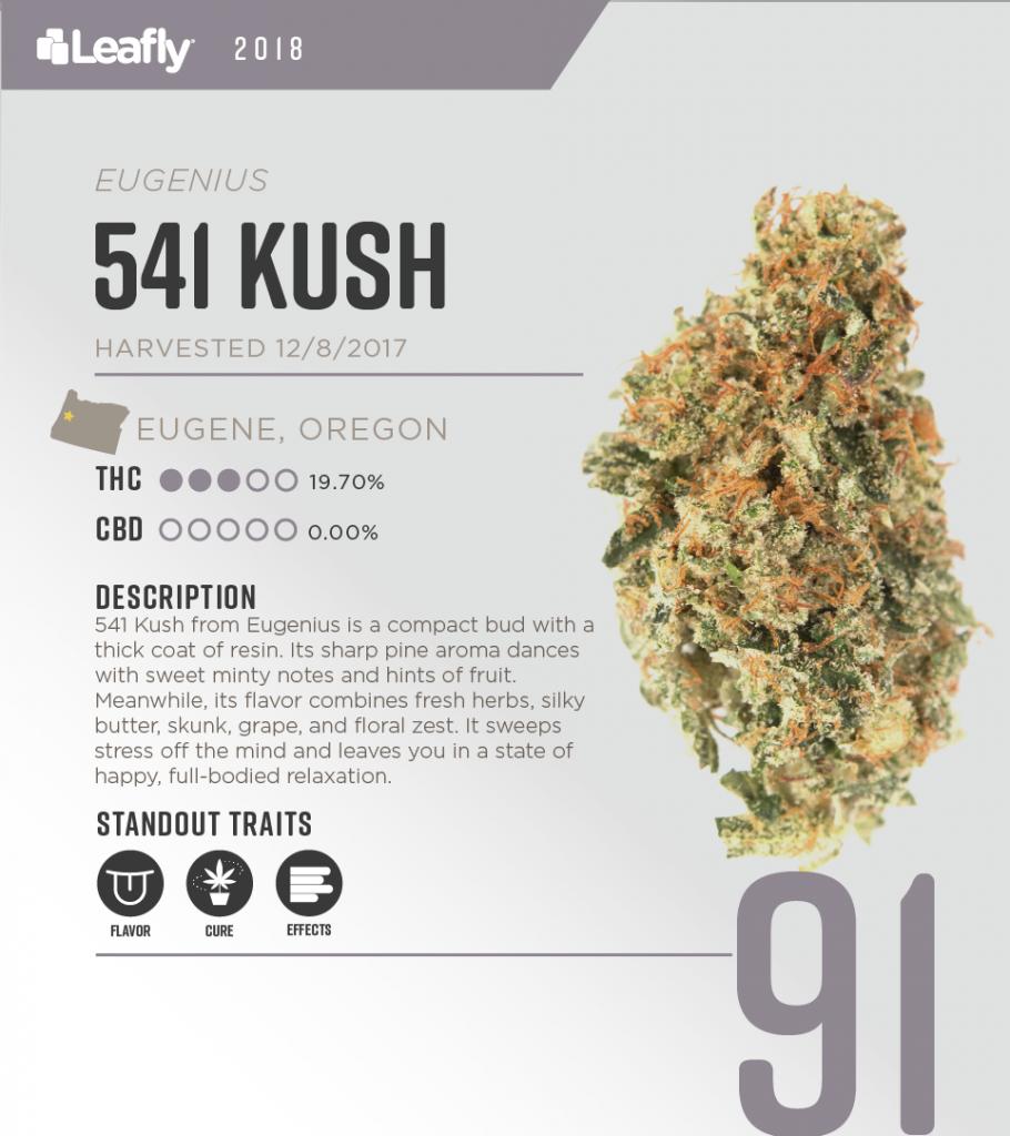 High-THC weed strains in Oregon: 541 Kush