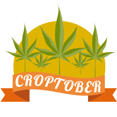 illustration of croptober - marijuana harvest season at leafly