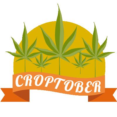 illustration of croptober - marijuana harvest season at leafly