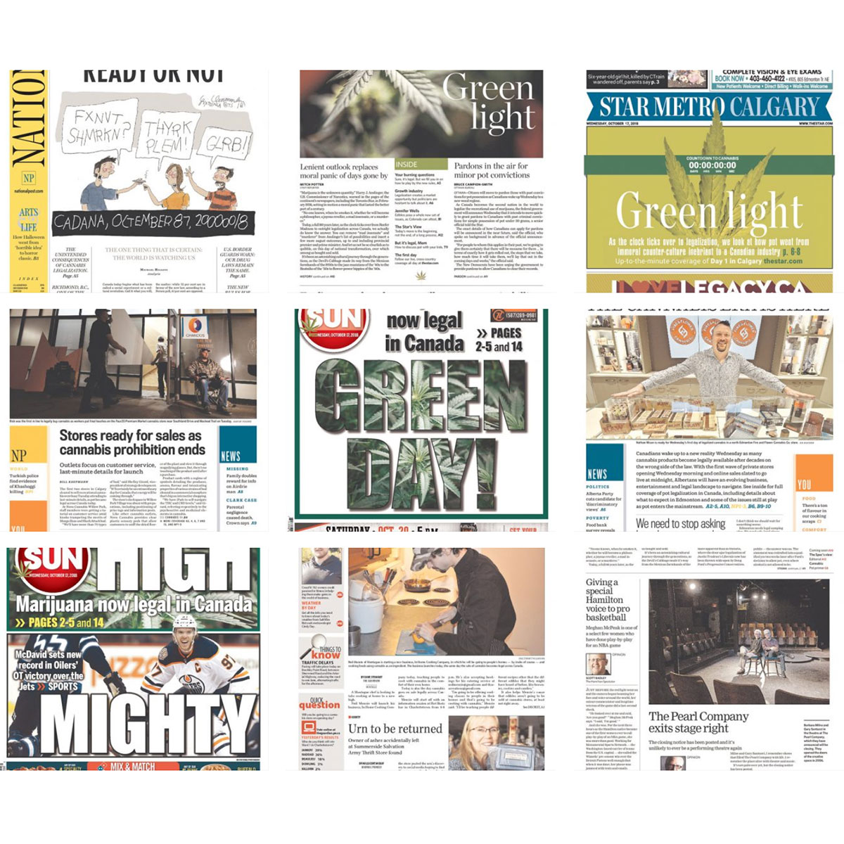 cannabis in canadian newspapers