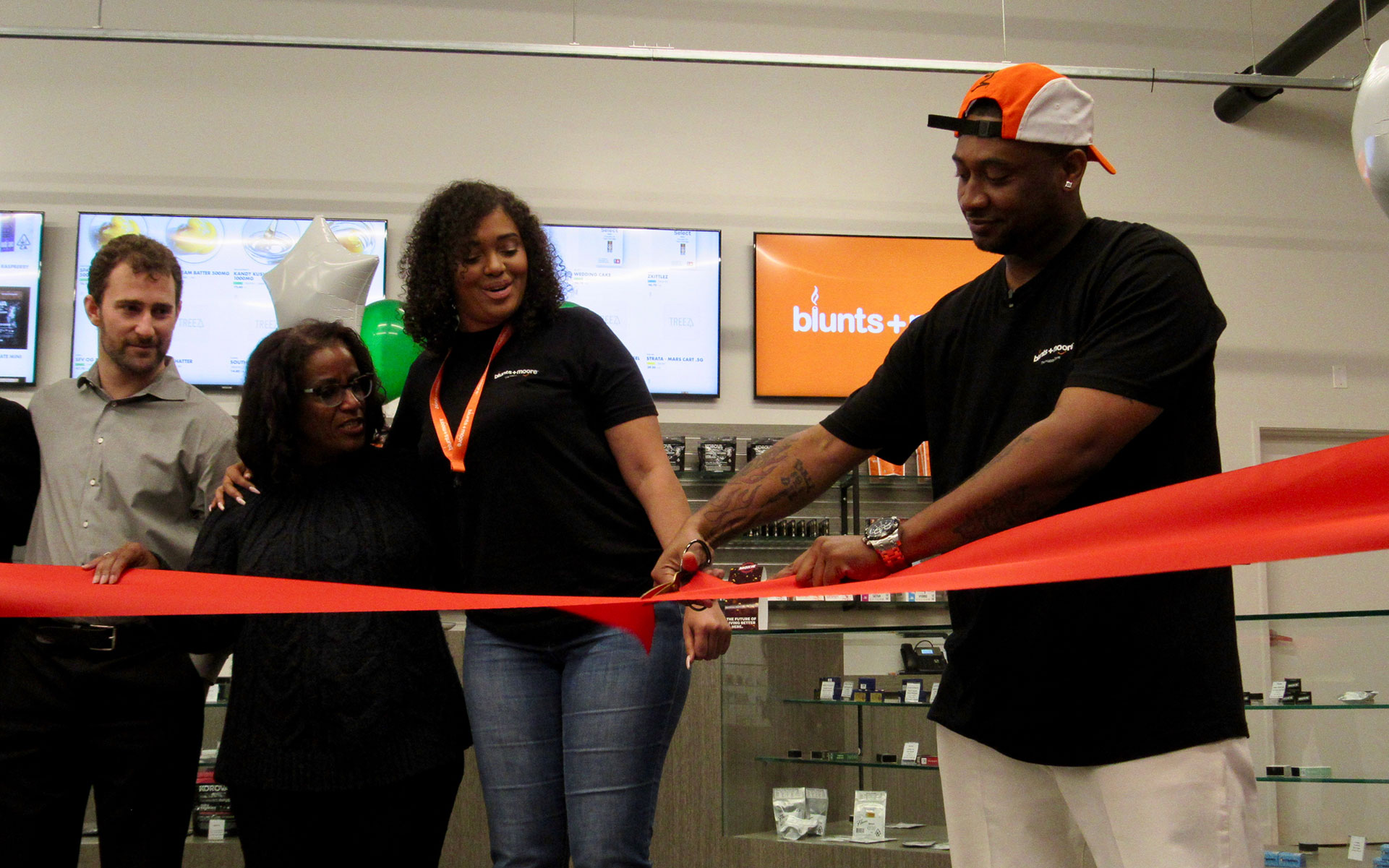 Dream Team: Oakland assistant to the city administrator Greg Minor, councilmember Desley Brooks, Brittany Moore, and Alphonso Blunt cut the ribbon Thursday.