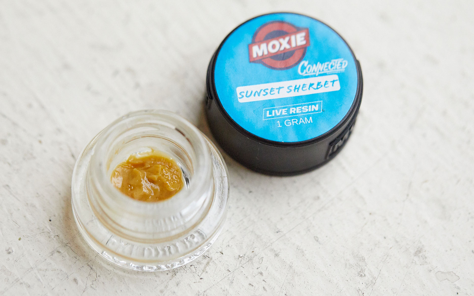 Sunset Sherbert Connected Moxie Cannabis Concentrate hash live resin badder