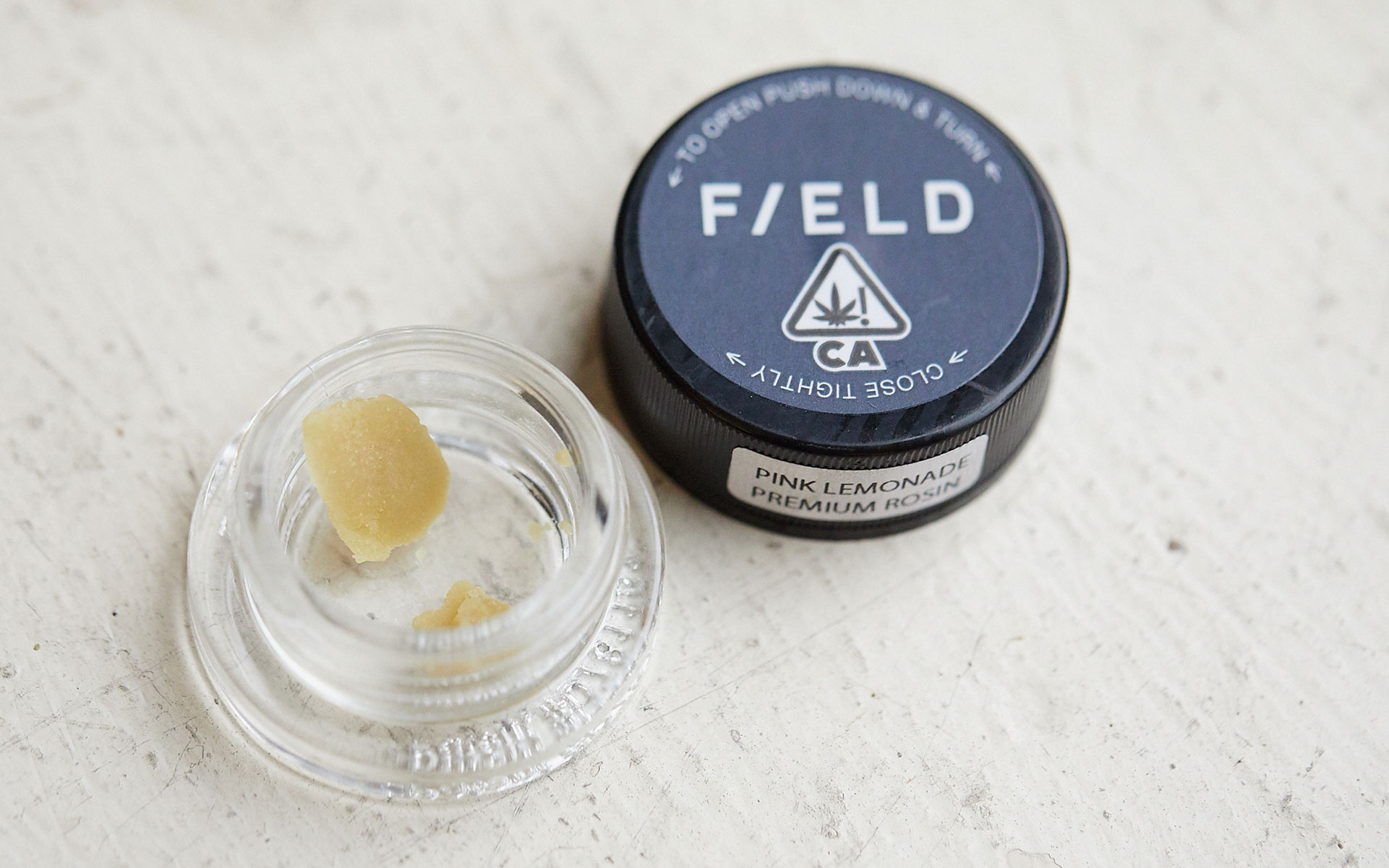 Field Rosin solventless hash Pink Lemonade