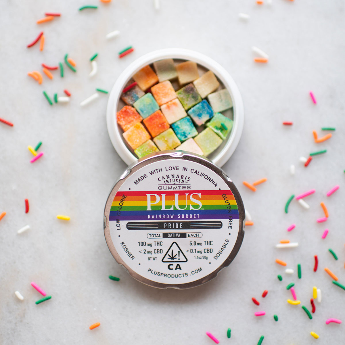 LGBT, Marijuana Community Unite in Pride Products like Plus Rainbow Sorbet gummies