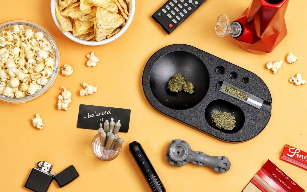 Weed board, prerolls, pipe, bong, popcorn