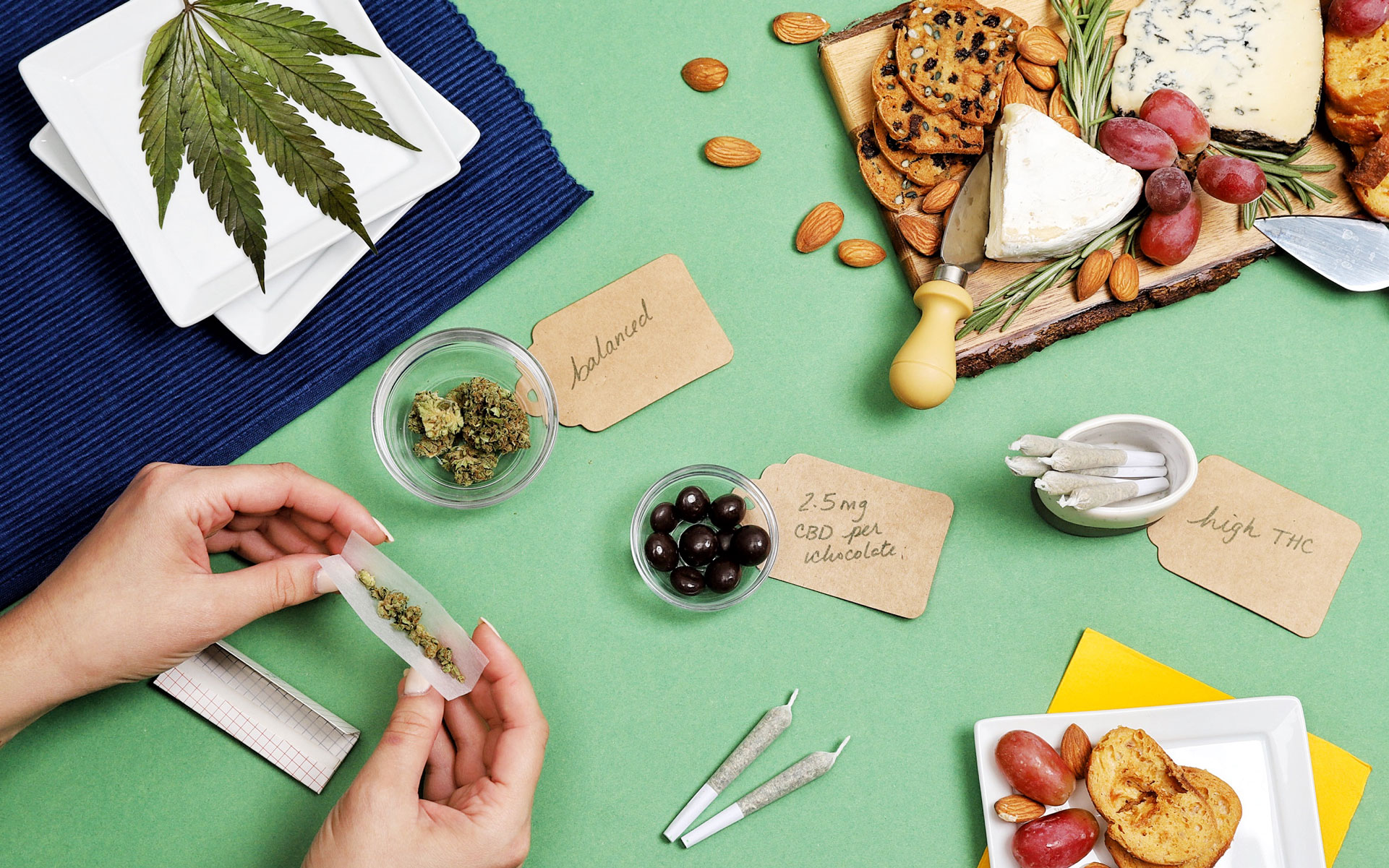 Party weed board, cheese board, rolling station