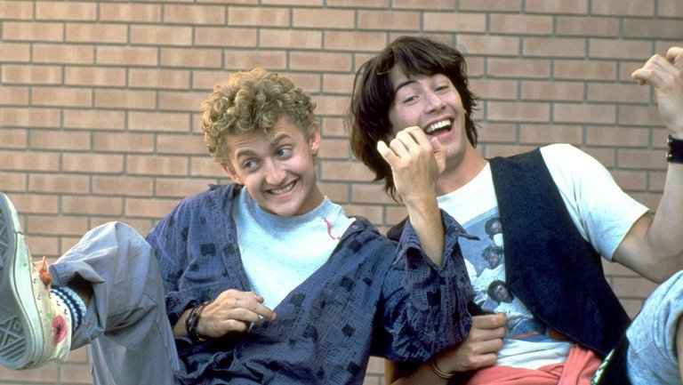 Main characters from Bill and Ted's Excellent Adventure
