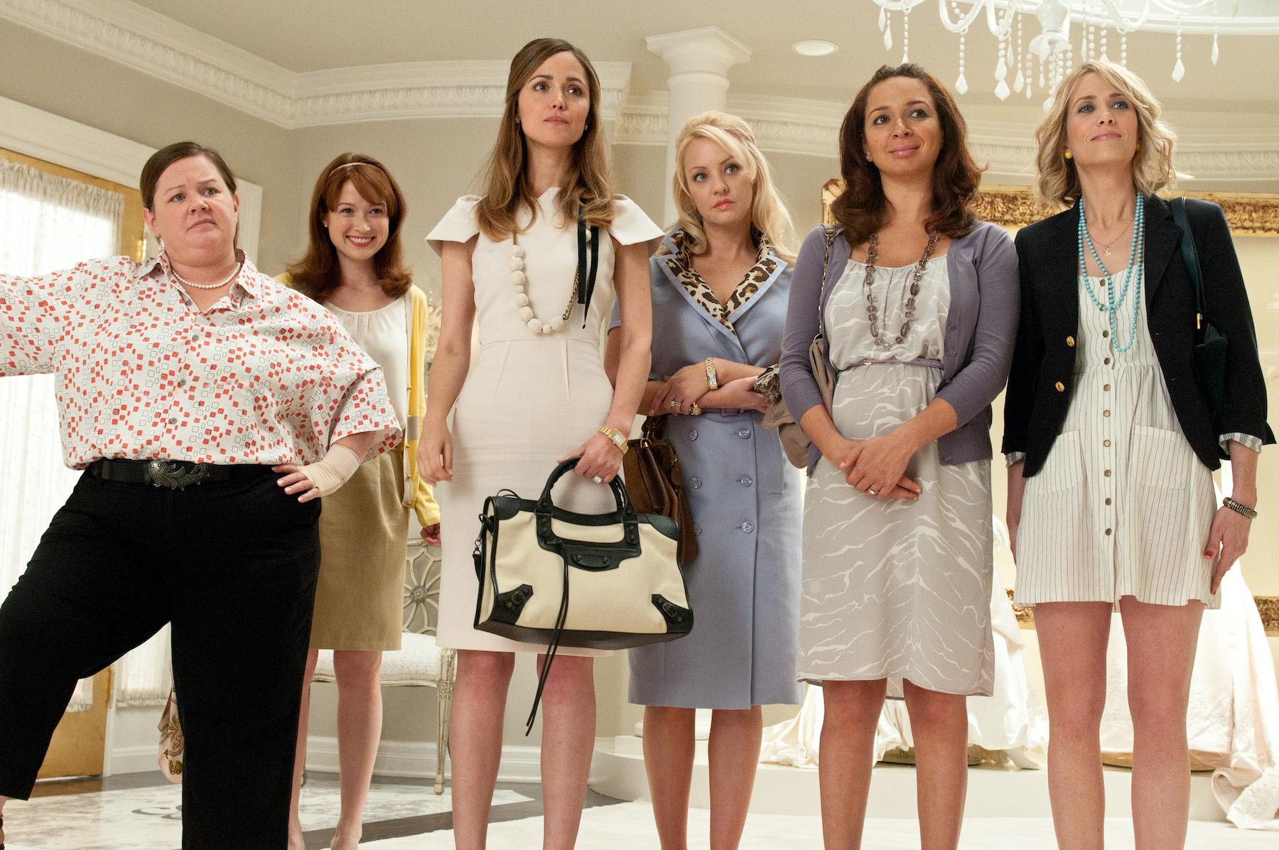 Six leading women of Bridesmaids
