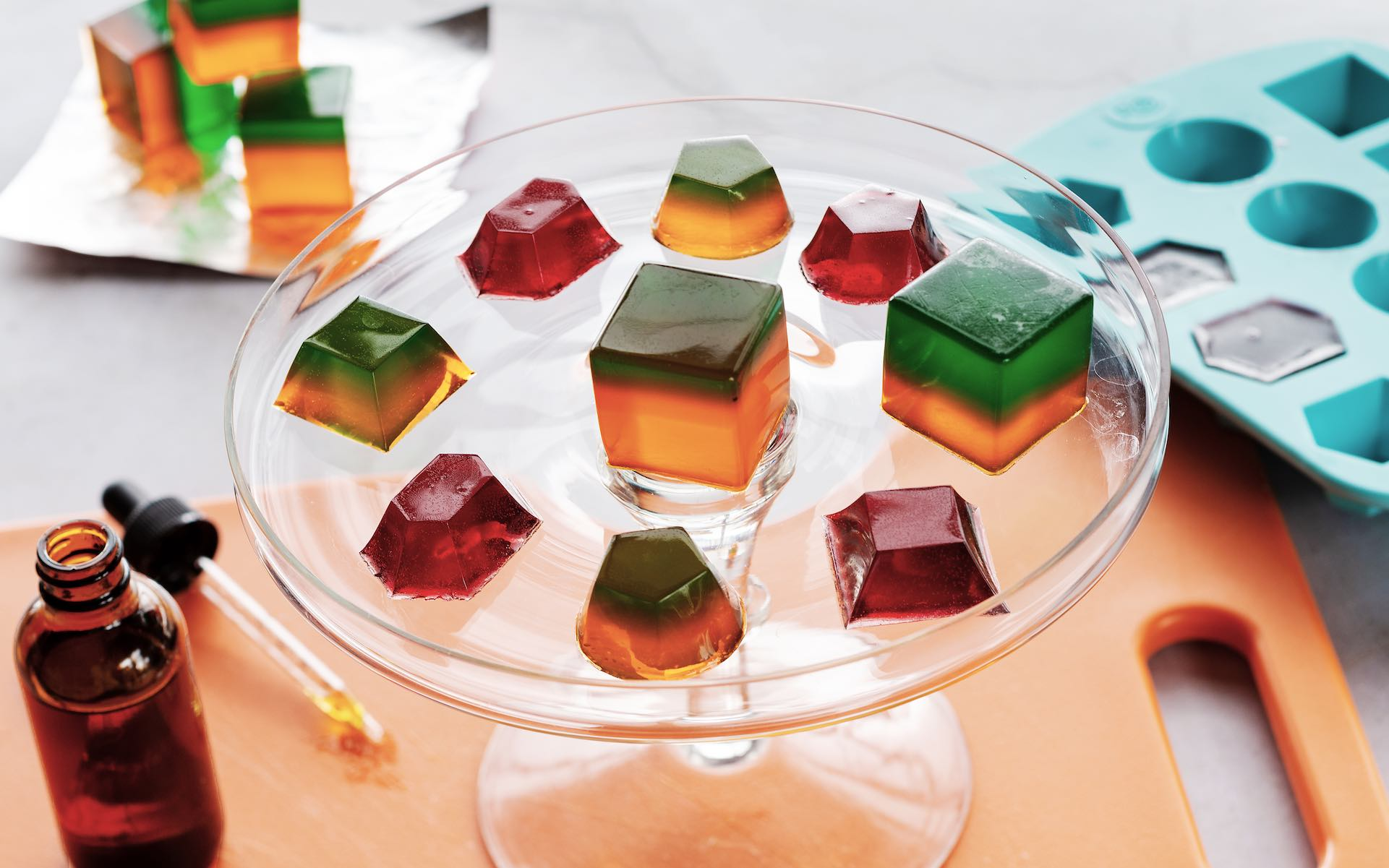 Help the aged—to CBD Jello shots. (Photo by Bruce Wolf)