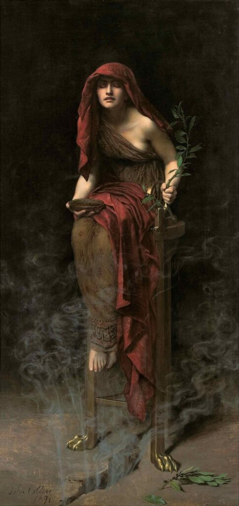 Priestess of Delphi 485x1024 - 4 women in history who used cannabis for mysticism